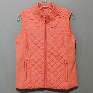 Pendleton Quilted Puff Vest Orange Size Medium